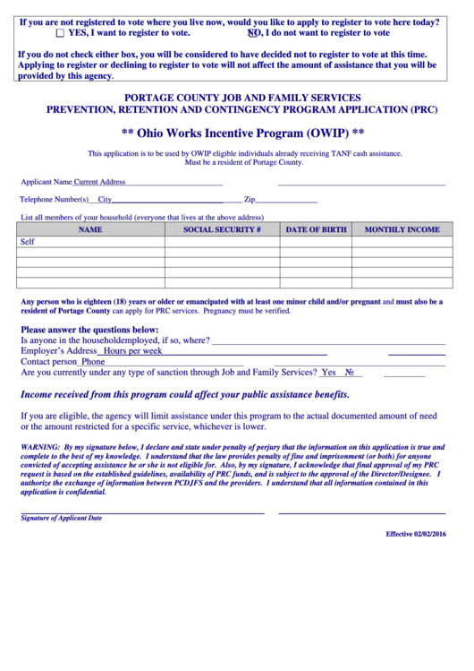 ontario works application form pdf
