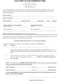 Utah Surplus Line Submission Form