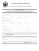 Affidavit Of Exemption Form