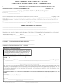 Declaration And Certification Form Of Certified Court Interpreter - State Of California