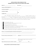 Application And Affidavit For Redemption Of Real Estate Sold For Taxes Form