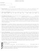 Affidavit Of Title Form