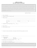 Application For Utah County Event Permit Form