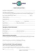 Adult Application Form