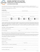 Permission To Administer Medicine Authorization Form - School District Of Clayton