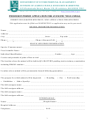 Possession Permit Application For Am Exotic Wild Animal Form - Department Of Environmental Management