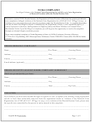 Form Ds De 18 Nvra Complaint - Florida Department Of State