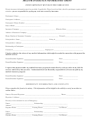 Health Insurance Information Sheet