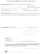 Form Rpl309-a Amended Business Certificate - Chemung County Clerk