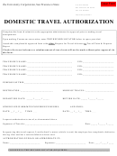 Domestic Travel Authorization Form