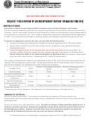 Form Lhl009/0116 Request For A Review By An Independent Review Organization (iro) - Texas Department Of Insurance