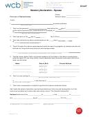 Form D34f - Statutory Declaration Spouse