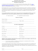Missing Student Policy And Procedure Emergency Contact Form