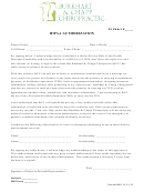 Hipaa Authorization Form