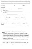 Authorization For The Release And/or Discussion Of Protected Health Information Form