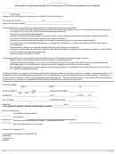Request For Accounting Of Disclosures Of Protected Health Information Form