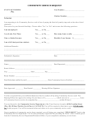 Community Service Request Form