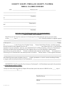 Form Sc 108 - Motion For Continuing Writ Of Garnishment - County Court, Pinellas County, Florida