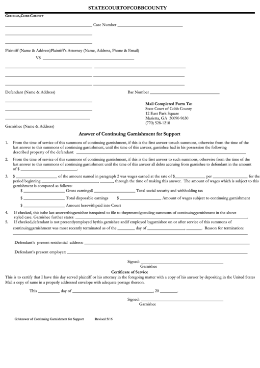 108 Georgia Court Forms And Templates free to download in PDF