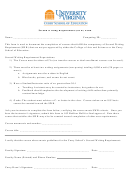 Second Writing Requirement (swr) Form