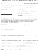 Three Day Notice To Pay Rent Or Quit Premises Form