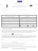 Form Uia 1025 - Employer Request For Address/name Change - 2011
