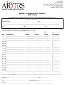Form 210 - Salary Statement For Service 1960 To 1980