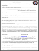 Form 41 - Facility Use