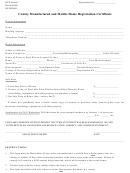 Form Dte 41 - County Manufactured And Mobile Home Registration Certificate Form