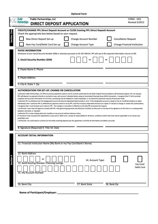 social security direct deposit change bank form download