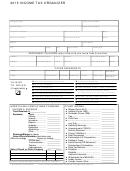 2015 Income Tax Organizer Template