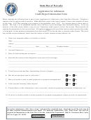 Application For Admission Credit Report Information Form - State Bar Of Nevada