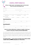 Hipaa Compliant Authorization To Release Healthcare Information Form