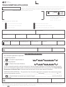 Form Ap-158 - Texas Exemption Application - 2012