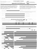 Dpt Form 10-012 Application For Employment