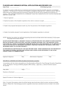 Floodplain Variance Appeal Form - Municipality Of Waterville