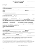 Sign Permit Application Form - East Manchester Township