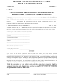 Application For Appointment Of A Commissioner To Report On The Contents Of A Safe Deposit Box Form