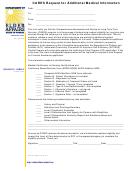 Doea-cares Form 617 - Cares Request For Additional Medical Information Form - Florida Department Of Elder Affairs