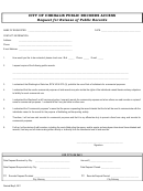 Request For Release Of Public Records Form - City Of Chehalis Public Record Access