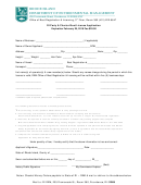 Ri Party & Charter Boat License Application Form - Rhode Island Department Of Environmental Management