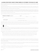 Form 5625 - Illinois Statutory Short Form Power Of Attorney For Health Care