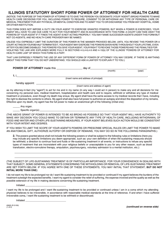 18 Power Of Attorney Form Illinois Templates Free To Download In Pdf