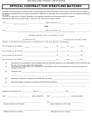 Official Contract For Wrestling Matches Template