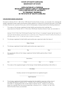 Declaration Of Primary State Of Residence Form - South Carolina ...