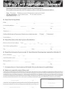 Form Ms 96-0201 - Library Card Application/renewal Form - Hawaii State Public Library System