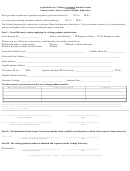 Application For Visiting Graduate Student Status Form - Pennsylvania' State System Of Higher Education