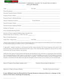 Form Dor 82009-s - Affidavit Of Property Owner's Lease To Charter School