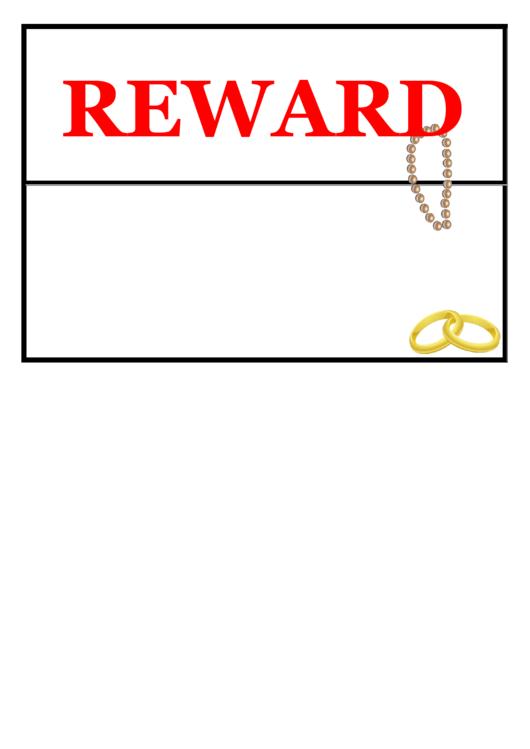 Lost Jewelry Reward Poster Template