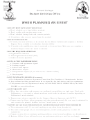 Activities Planning Checklist